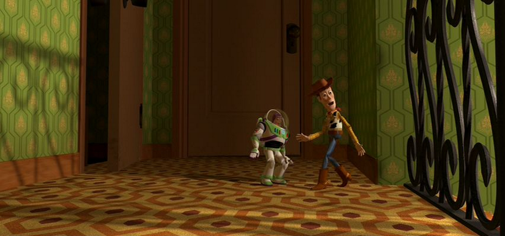 The Shining Teppich in Toy Story